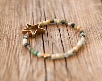 Earth colors bracelet, Gemstone Bracelet, Beaded Bracelet, Stacking Bracelet, Womens Bead Bracelet, Gemstone Bracelet, Yoga Bracelet