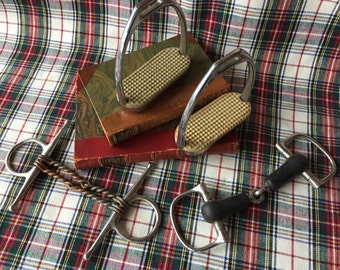 Horse Tack, Lot of assorted Equestrian Horse Tack. Kentucky Derby Party Decor. Equine. Horse, Vintage