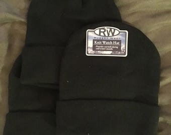 Black Knit Beanie (Adult One Size)