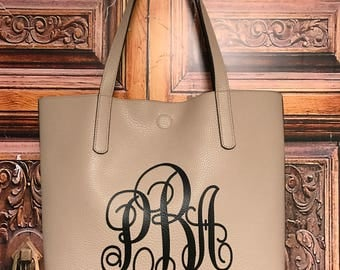 Monogram Handbag, Monogram Tote, Monogram Purse, Monogram Reversible Bag; personalized bag, initials on bag