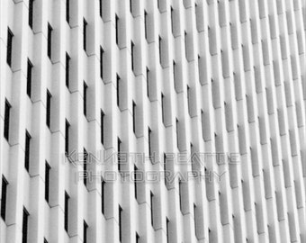 Modern black and white architectural photography. Charlotte print #1