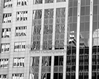 Modern black and white architectural photography. Charlotte print #10.