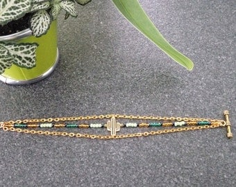 Fancy bracelet beads and cactus