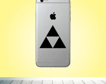 Triforce symbol VINYL DECAL - Silhouette decal - Custom phone Decal for him her friend kids boyfriend - The Legend of Zelda Vinyl Decal