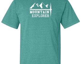 National Park Mountain Explorer Adventure Comfort Colors TShirt