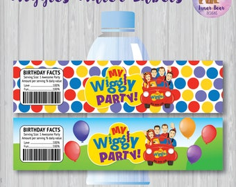 Wiggles Party, Wiggles Birthday Party, Wiggles Water Bottle Labels, Wiggles Party Decoration, Wiggles Labels, Wiggles Printable Water Labels