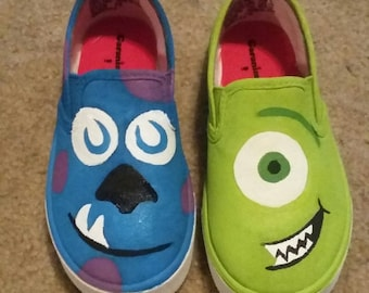 Monsters Inc. painted shoes
