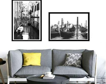 Venice Photography, Venice Canal, Venice Print, Italy Art Print, Italian Decor, travel photo, Europe, large wall art, digital download