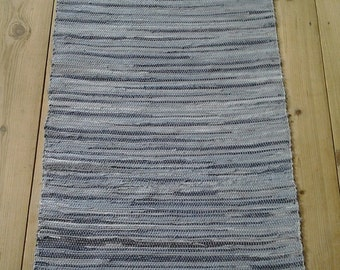 Handmade woven rug, Cotton Hand Woven Loom Rug, Rag Rug, cotton rug, Floor&Rugs, Denim Rug, Rustic Country Home Decor Woven Rag Rug