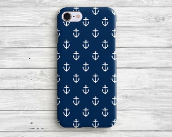 Blue Anchor iPhone 7 Case Anchor iPhone 6 Case iPhone 7 Plus Anchor iPhone Case iPhone 6s Anchor Blue Case iPhone 6 Plus Case