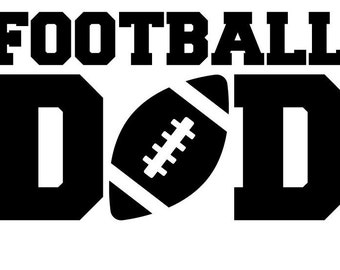 Football Dad Decal