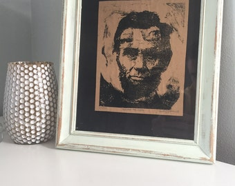 Abraham Lincoln Portrait Print, Signed and Numbered