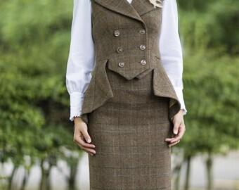 "31"" Skirt in Fiddich Tweed"
