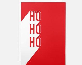 Contemporary Christmas card / Ho ho ho Christmas card