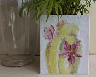 Decorative hand-painted porcelain plate