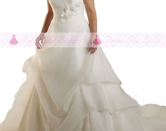 Plus Size, Custom Made, Bridal Gown, Wedding Dress, Made to measure, Bridesmaid, evening, 20 22 24 26 28 30 32 flattering uk free delivery,