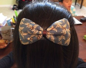 Handmade Hair Bow Barrette