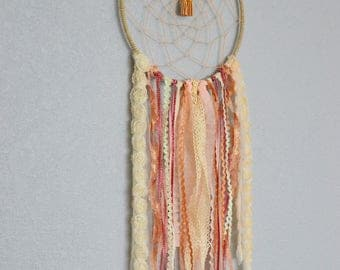 Pink Dream Catcher/ Boho/ Chic/ Modern/ Lace