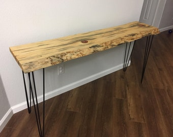 Ponderosa live edge entry table