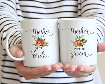 Mother of the Groom Gift, Mother of the Bride Gift, Mug Set, Gift for mom, Mom Wedding Gift, Mother of the Groom, Coffee Mug, Wedding Gift