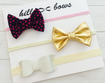 Baby Headband Set, Baby Headband, Baby Girl Headband, Baby Hair Bows, Newborn Headbands, Baby Bows, Mini Bows