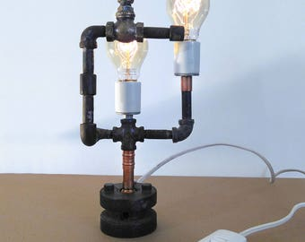 STEAMPUNK PIPE LAMP W