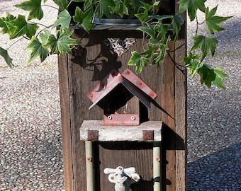 Unique Hand Made Rustic Birdhouse