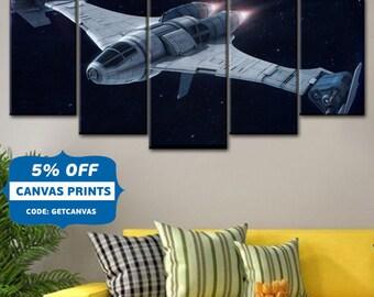 Star Wars X-Wing, Star Wars X-wing Fighters, Art Print, Star Wars Print, Boys Room Decor,  X-Wing Fighter print, Star Wars Poster,Canvas Art
