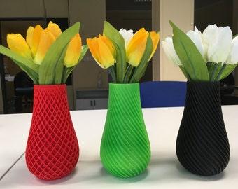 Plant vase 3d printed in PLA