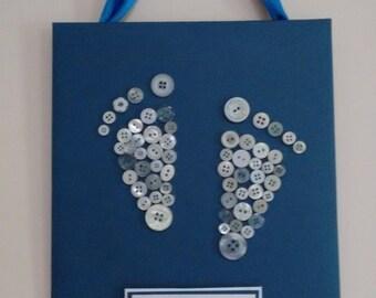 Button Canvas ~ Tiny Feet