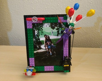 custom lego picture frame inspired by lego batman movie fixedmoving parts 4x6in free shipping