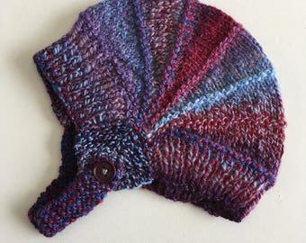 Baby Beanie - Knit Baby Beanie - Newborn Knit Hat - Aviator Style Hat - Newborn Beanie - Knit Beanie - Newborn Hat - Baby Shower Gift