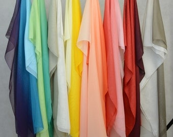 Summer Scarf – Long Fashion Scarf in Ombre Pattern in 8 Colors