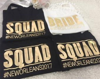 Bride Squad Bachelorette tanks,Bridal party shirts, Bridesmaid gift, bridesmaid shirt, bridal shirts, Bachelorette shirts, Bridesmaid tank,