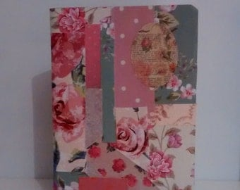 Decoupage Floral Notebook