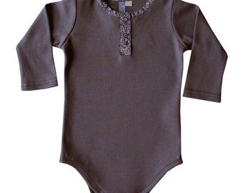 BUG onesie jersey cotton and cashmere taupe