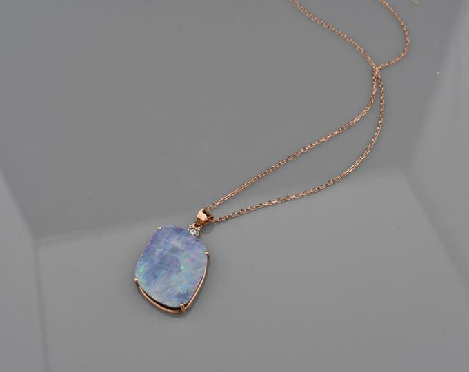 Rose Gold Opal pendant!