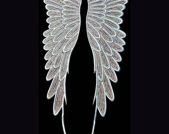 Large Angel Wings Rhinestone Applique
