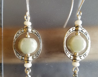 Peace jade earrings
