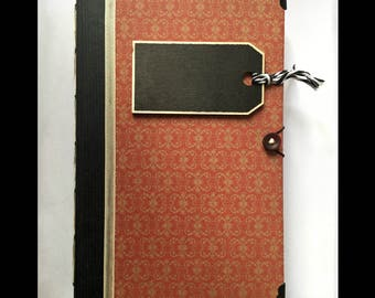 Red-ish Altered Book Journal