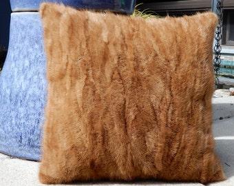 Caramel Mink Pillow