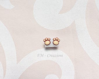 White polymer clay earrings