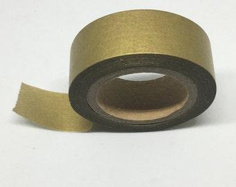 Washi Tape - Gold Matte Washi Tape - Washi Tape - Decorative Tape - Adhesive Tape -