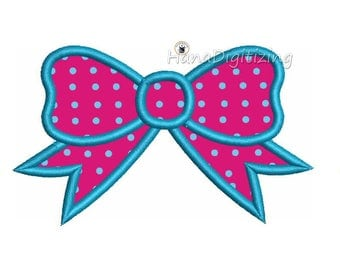 Bow Applique Machine Embroidery Design 3 Sizes