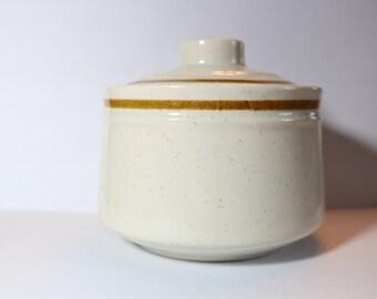 Vintage Japan Stoneware Sugar Bowl
