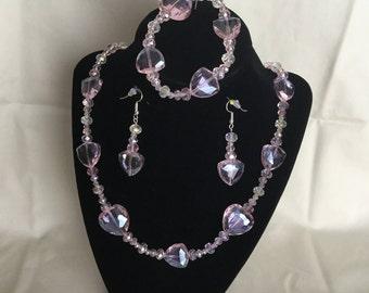 23: Necklace, Bracelet, Earrings Set