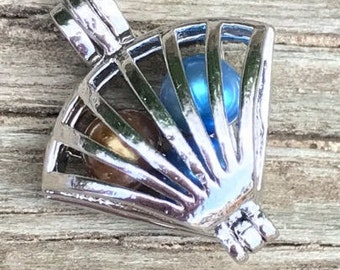 Silver Plated Fan Cage Pendant
