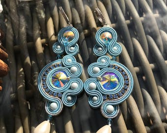 Amalfi soutache earrings