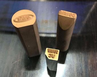 Steel Stamps - Steel Hand Stamps - Custom Steel Stamps - Wood Branding Stamps