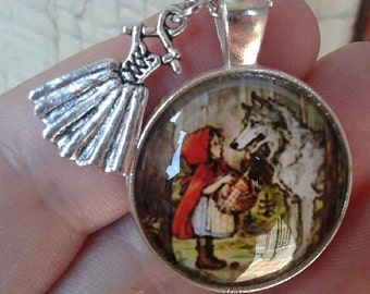 Little Red Riding Hood Necklace with Charm (Necklace Only)